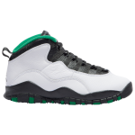 Jordan Boys Retro 10 Basketball Shoes White/Black/Pine Green Size