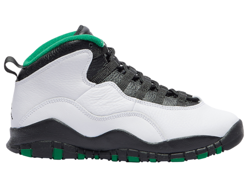 Jordan Boys Retro 10 Basketball Shoes White/Black/Pine Green