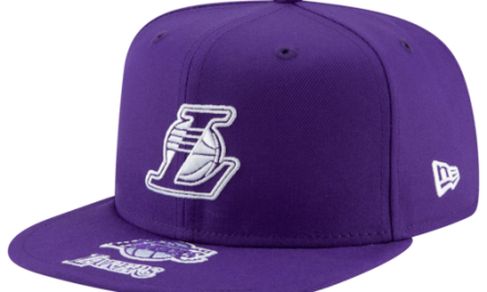 New Era Mens NBA Logo Mixed Snapback Purple