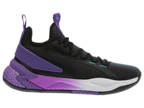 PUMA Mens Uproar Basketball Shoes Black/Electric Purple/White