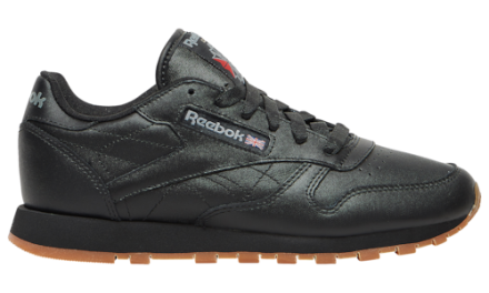 Reebok Womens Classic Leather Shoes Black/Gum
