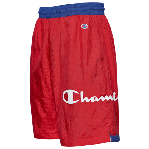 Champion Mens Nylon Shorts Red/Blue