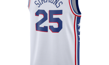 Nike Mens NBA Swingman Jersey White Simmons