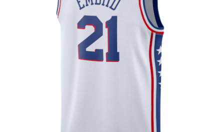 Nike Mens NBA Swingman Jersey White Embiid