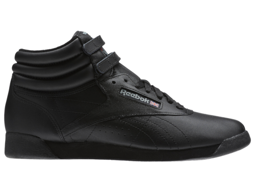 Reebok Womens Freestyle Hi Shoes Black/Black/Black