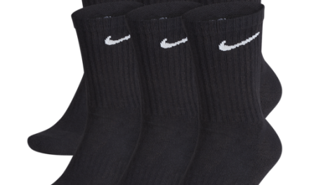 Nike Mens 6 Pack Performance Cotton Crew Socks Black/White