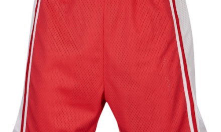 Retro Olafs Mens Basketball Shorts Red/White/Red