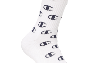 Champion Mens All Over C Crew Sock With Embroidery White
