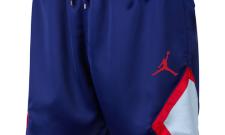 Jordan Mens Satin Diamond Shorts Deep Royal Blue/Half Blue/University Red
