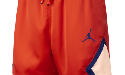 Jordan Mens Satin Diamond Shorts Team Orange/Crimson Tint/Deep Royal Blue