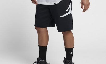 Jordan Mens Jumpman Fleece Shorts Black/White