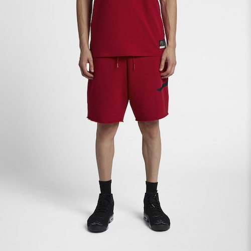 Jordan Mens Jumpman Fleece Shorts Gym Red/Black