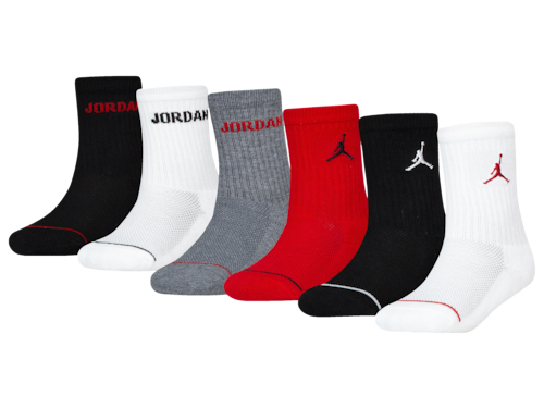 Jordan Boys Legend Crew Socks 6-Pack Black/Red