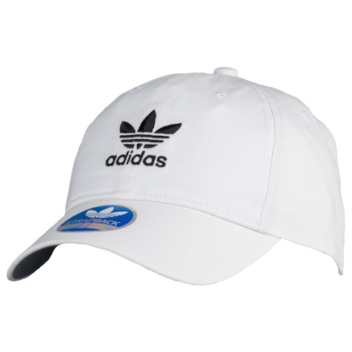 adidas Originals Mens Washed Relaxed Strapback White/Black