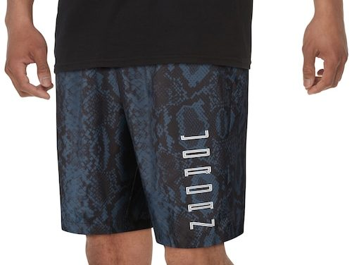Jordan Mens Retro 11 Snakeskin Shorts Navy/White