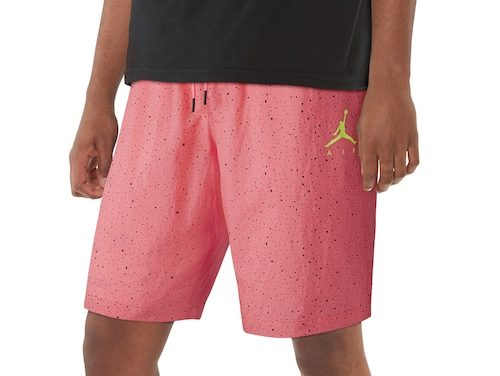 Jordan Mens Cement Poolside Shorts Hyper Pink/Cyber