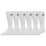 adidas Originals Mens Trefoil 6-Pack Crew Socks White/Black