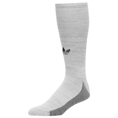 adidas Originals Mens 3-Stripe Statement Crew Socks Grey/Black