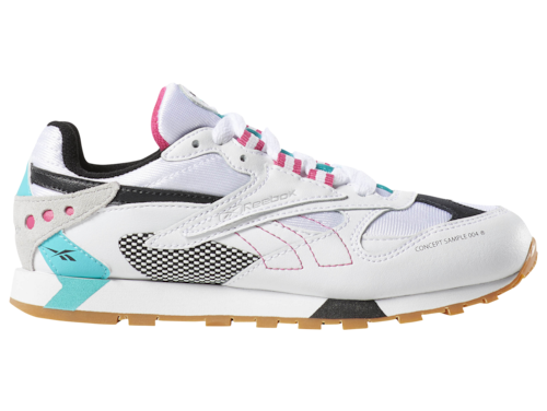 Reebok Boys Classic Leather Altered Shoes White/Solid Teal/Black