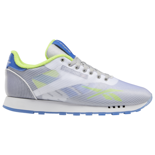 Reebok Mens Classic Leather ATI Shoes White/Blue