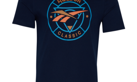 Reebok Mens Trail Logo T-Shirt Navy