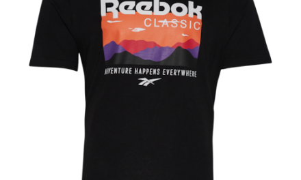Reebok Mens Trail Logo T-Shirt Black/White