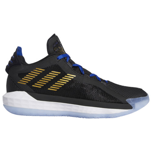 adidas Mens Lillard, Damian Dame 6 Basketball Shoes Black/Gold Metallic/Team Royal Blue
