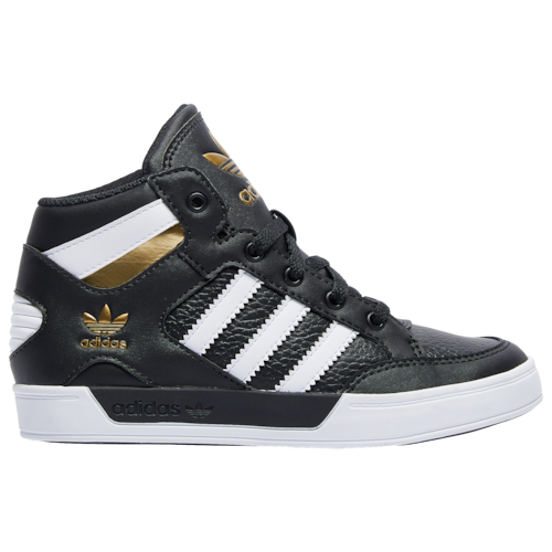 adidas Originals Boys Hardcourt Hi Shoes Black/White/Gold