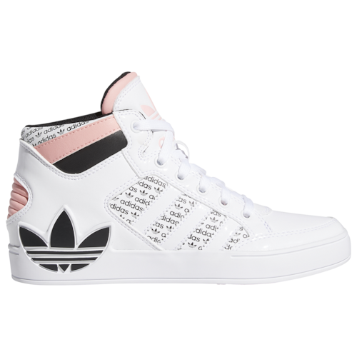 adidas Originals Girls Hardcourt Hi Shoes White/Pink/Bold Pink
