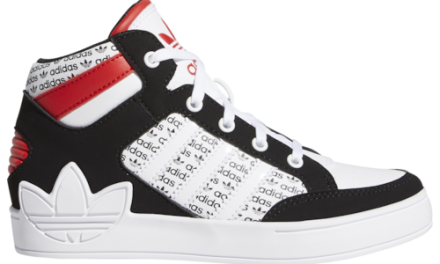 adidas Originals Boys Hardcourt Distort Shoes White/Black/Red