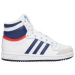 adidas Boys Top Ten Hi Shoes White/Navy/Red