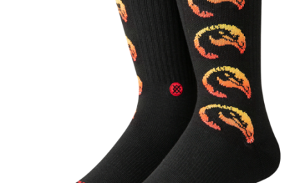 Stance Mens Finish Him Crew Socks Black