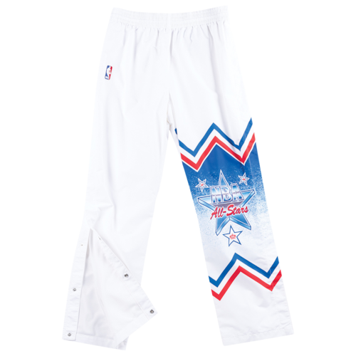 Mitchell & Ness Mens NBA Authentic Warm-Up Pants White