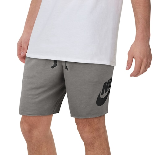Nike Mens Alumni Shorts Charcoal Heather/White