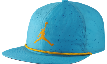 Jordan Poolside Cap Light Blue Fury/Black/University Gold