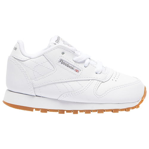 Reebok Boys Classic Leather Shoes White/Gum