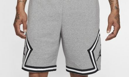 Jordan Mens Jumpman Fleece Diamond Shorts Carbon Heather/White