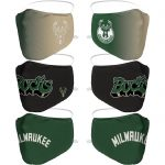 Milwaukee Bucks 3 Pack Face Coverings – Adults